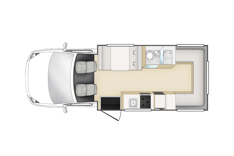 Apollo Euro Camper Nieuw-Zeeland layout