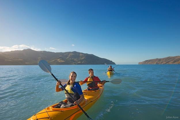 Kajakken Nieuw-Zeeland Akaroa Zuidereiland