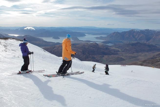Lake Wanaka skiën Nieuw-Zeeland