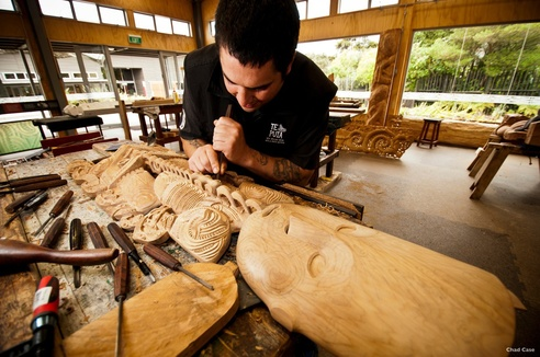 Maori houtsnijkunst Nieuw-Zeeland